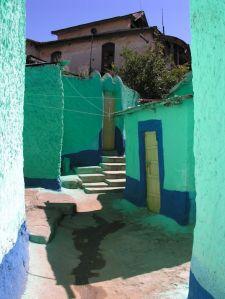 Een van de vele straatjes in het islamitische stadje Harar